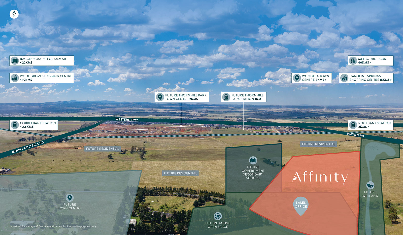 Aerial view of Affinity's location